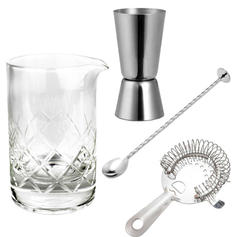 Kit bar com mixing glass +3 itens
