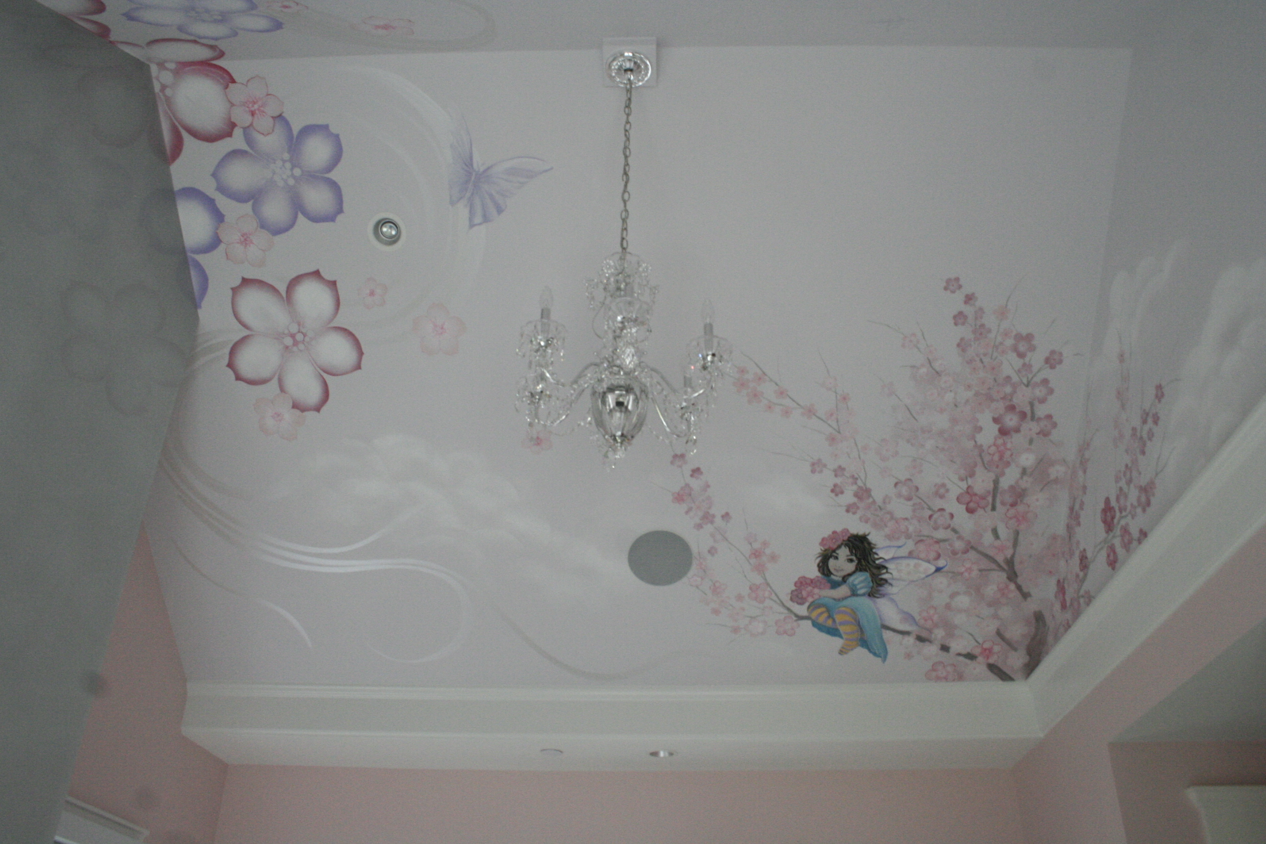 Girls Room Ceiling Mural