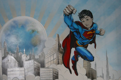 Super Boy Mural Detail