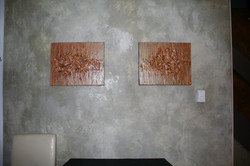 industrial faux-concrete finish