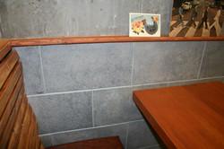 faux-brick wall finish - Platform 7