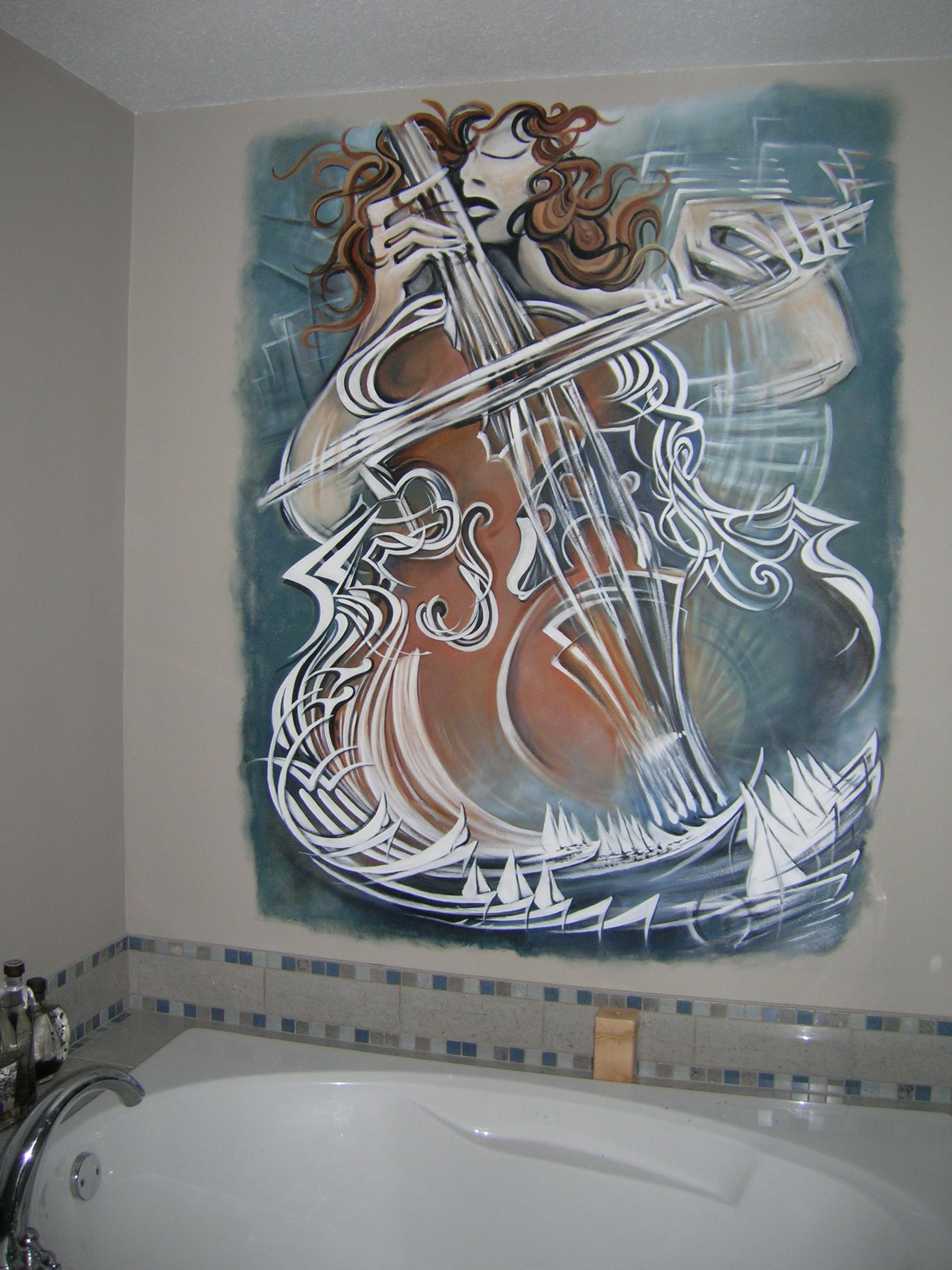 Master Bath Mural