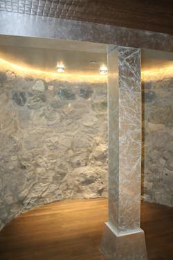 decorative glass - silver pillar