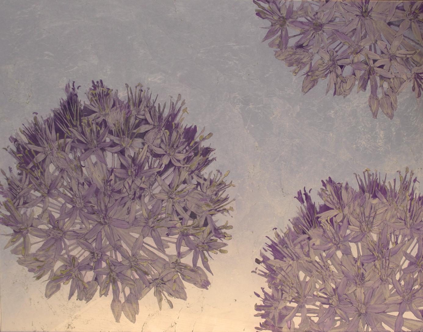 Purple Allium backsplash