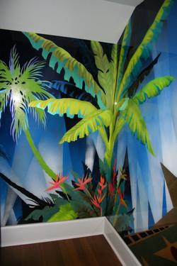 decorative glass - palms