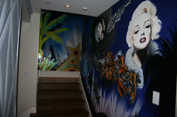 Hollywood Theme Mural