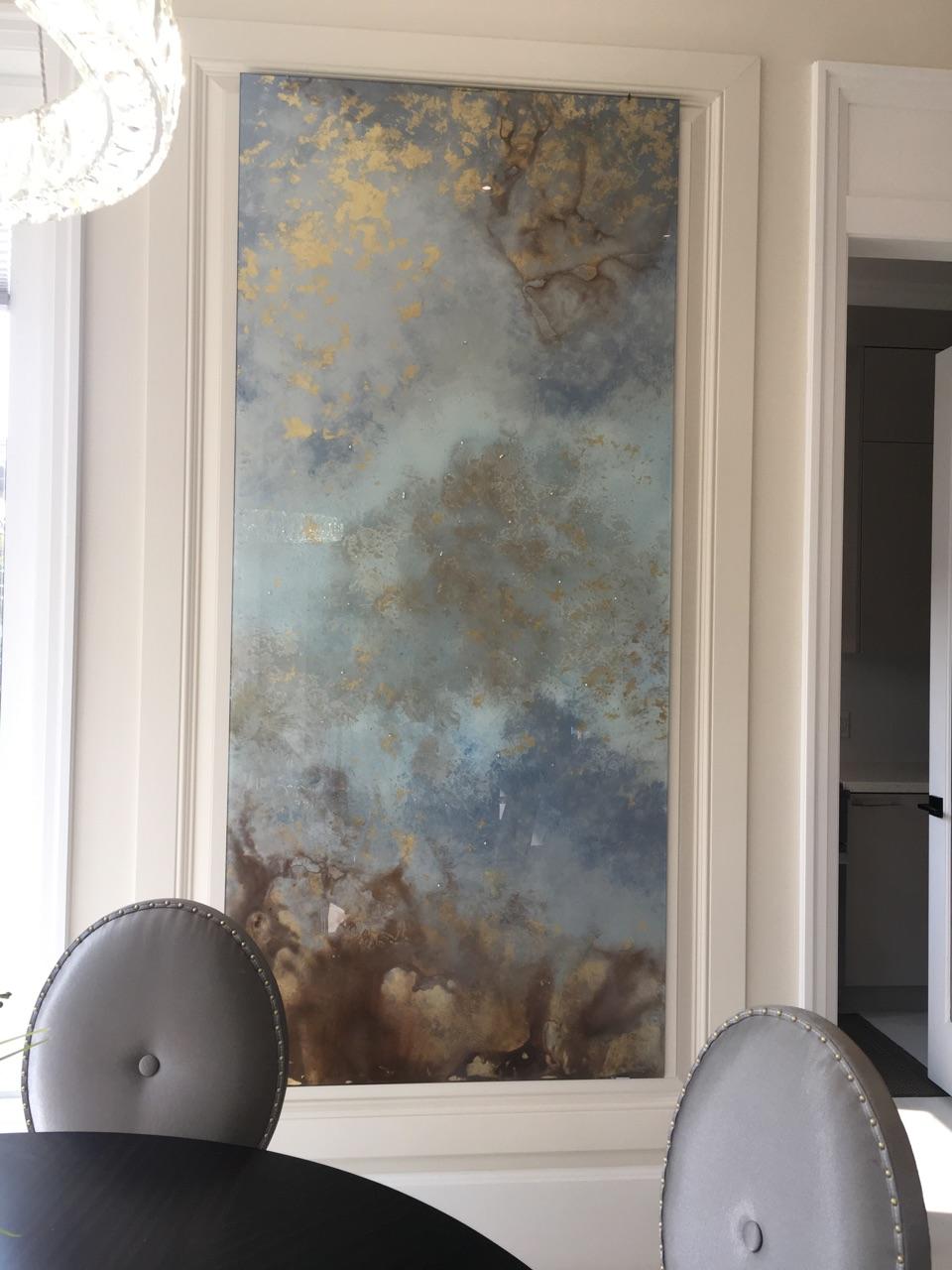 glass art installed