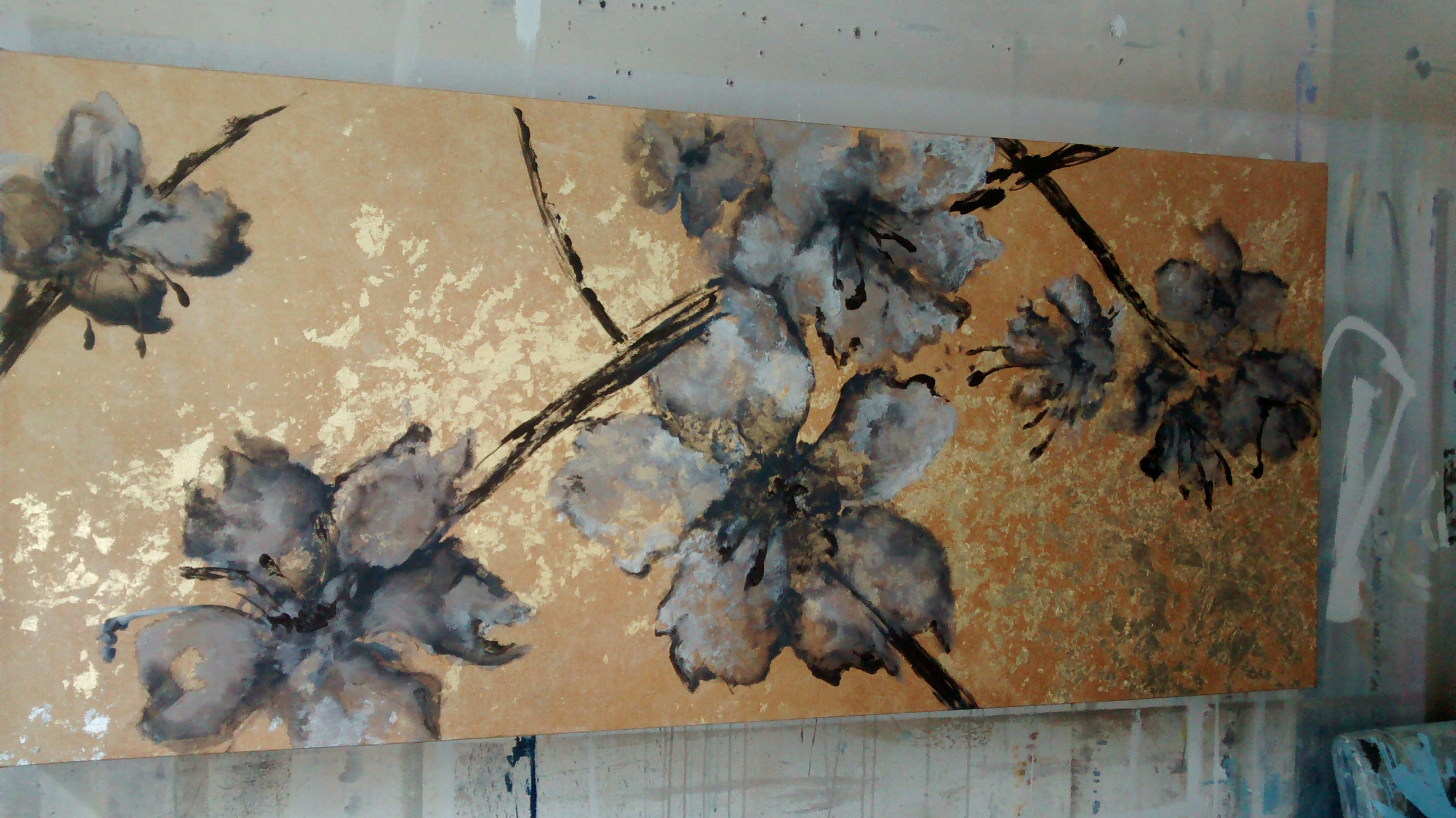 mixed media on canvas