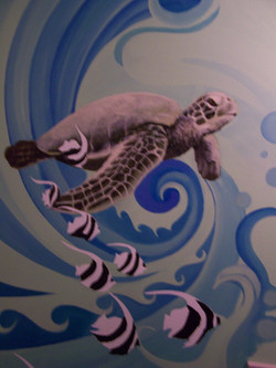 Sea Turtle Mural Detail
