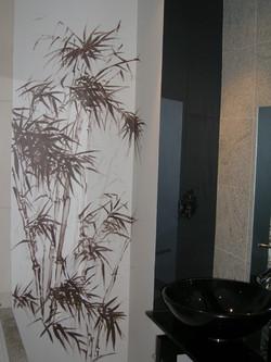 Powder Room Mural