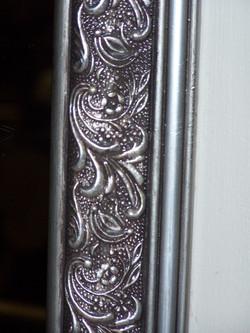 mirror frame finish - detail