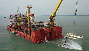COS SS1 Cable Trencher - onboard cable l