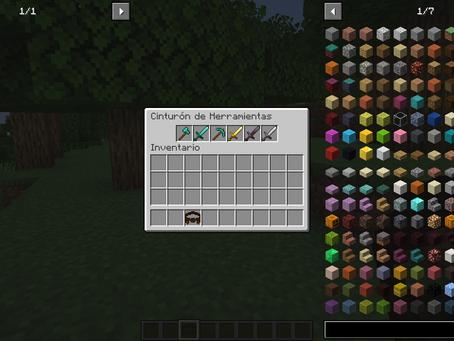 Tool Belt Mod para Minecraft 1.17.1 / 1.16.5 / 1.15.2 / 1.14.4 / 1.12.2