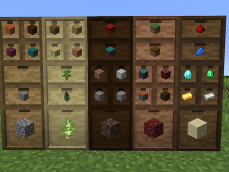Storage Drawers Mod para Minecraft 1.16.3 / 1.15.2 / 1.14.4 / 1.12.2 /1.11.2 / 1.10.2