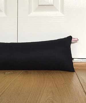 Black draught excluder - made to measure draft stoppers