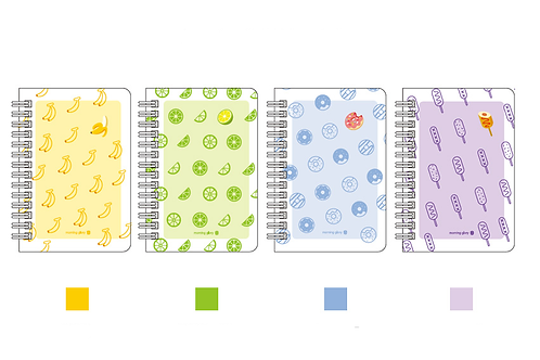 PP clear cover pocket note book-blue