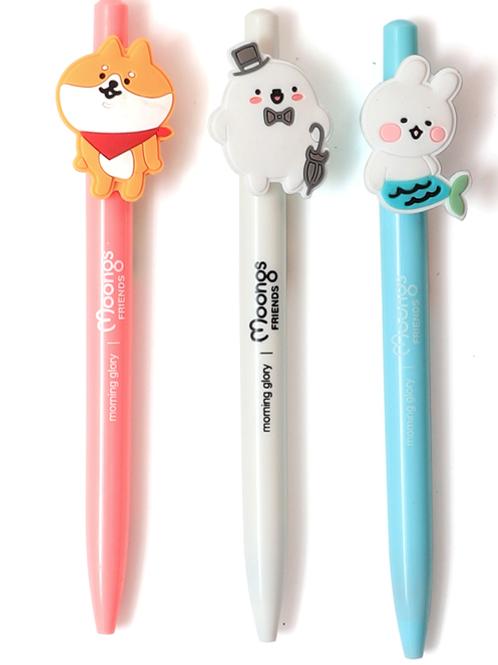 Moongs frends gel pen ( 0.5mm)-pink