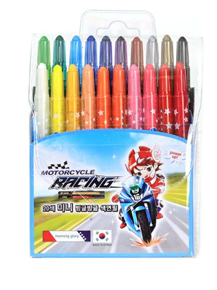 20 color twist up crayon