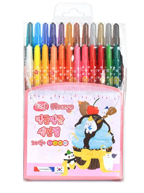 24 color twist up crayon-pink