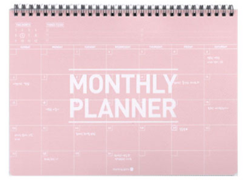Clear P.P. monthly planner