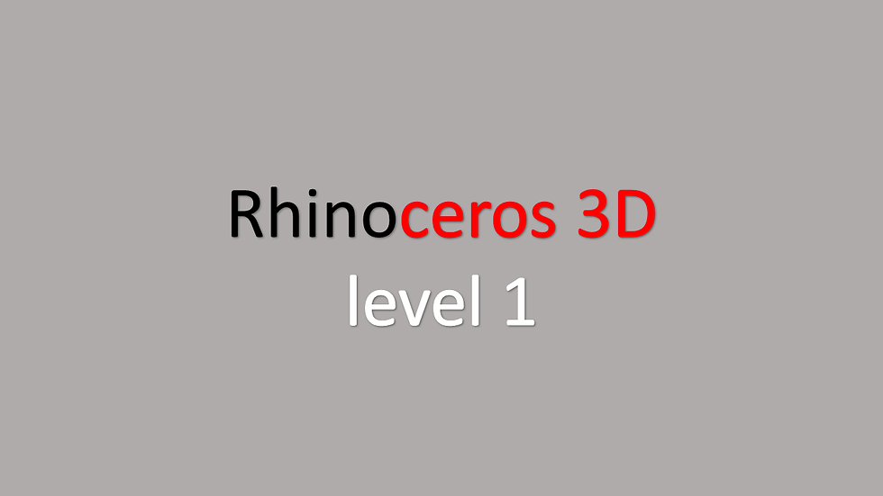Курс Rhinoceros 3d,  level-1