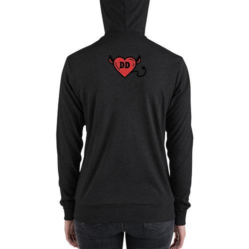 Divine Darling Unisex zip hoodie