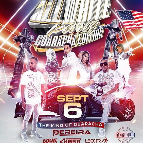 Monday September 6th 2021 All White Labor Day Party Guaracha Edition