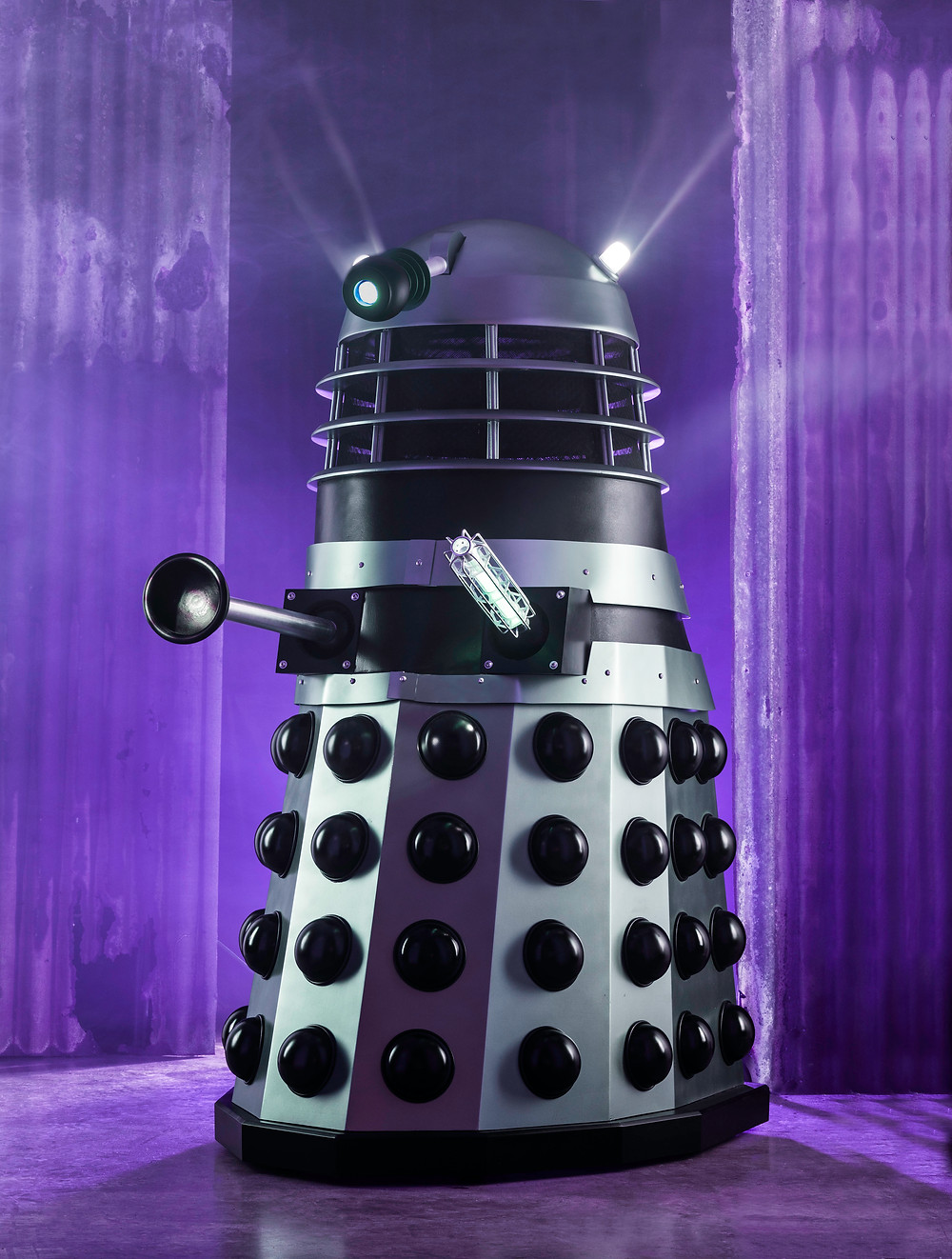 A life size replica model of a 1963 Dalek from the first series of Dr Who.