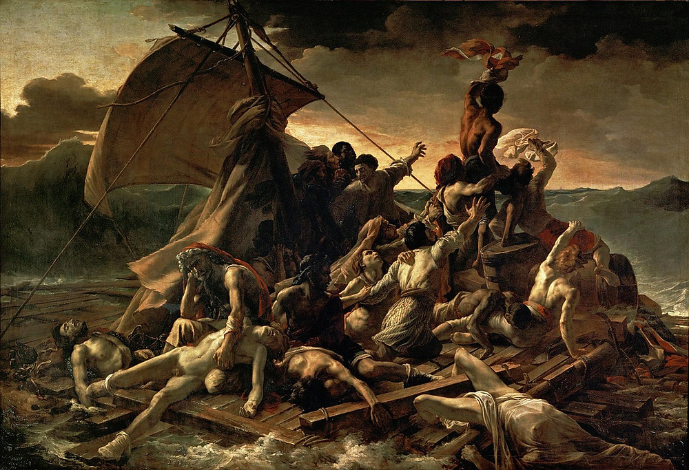"""Theodore Gericault's painting """"The Raft of the Medusa"""".  Part of the Qwiz5 series by Qwiz Quizbowl Camp, written to help quiz bowl teams power more tossups!"""