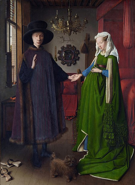 "Jan van Eyck's painting, ""The Arnolfini Wedding"".  Part of the Qwiz5 series by Qwiz Quizbowl Camp, written to help quiz bowl teams power more tossups!"