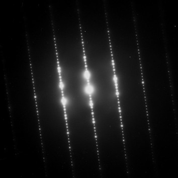 An image of light diffraction.  Part of the Qwiz5 series by Qwiz Quizbowl Camp, written to help quiz bowl teams power more tossups!