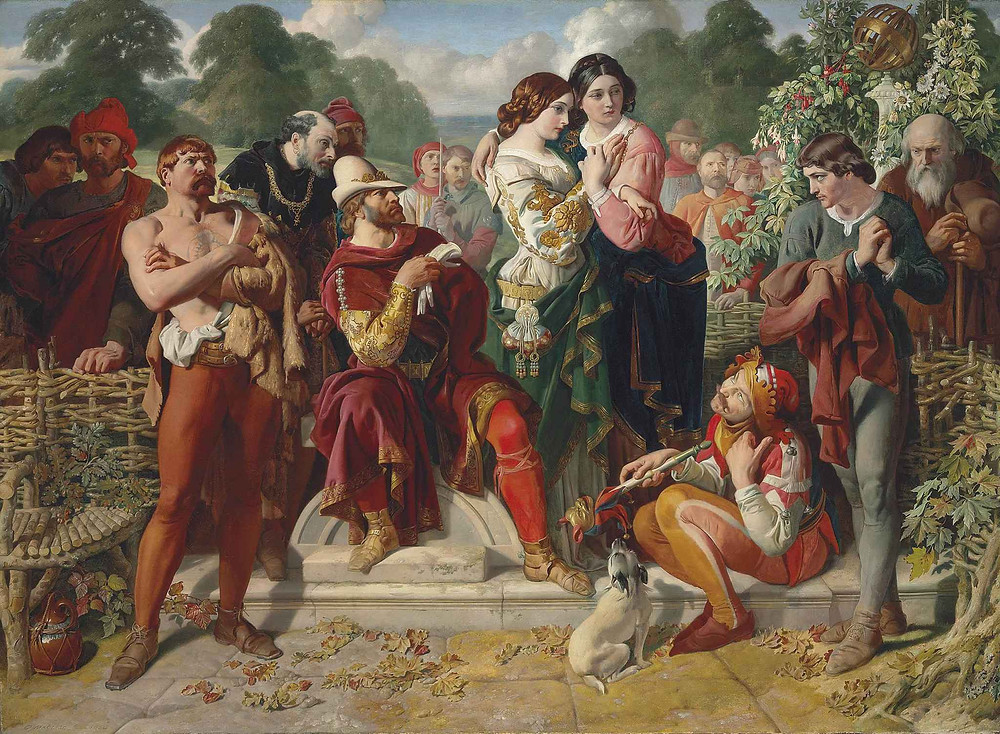 """The Wrestling Match"" by Daniel Maclise, a scene  from Shakespeare's ""As You Like It"". Part of the Qwiz5 series by Qwiz Quizbowl Camp, written to help quiz bowl teams power more tossups!"