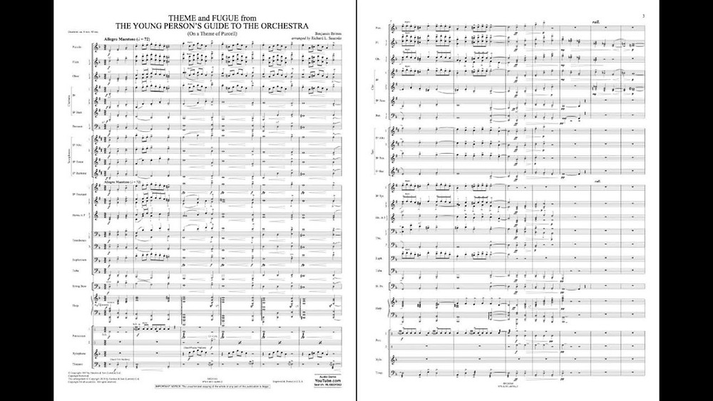 "Sheet music for Benjamin Britten's ""The Young Person's Guide to the Orchestra"".  Part of the Qwiz5 series by Qwiz Quizbowl Camp, written to help quiz bowl teams power more tossups!"