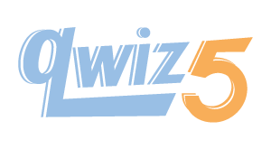 Logo for the Qwiz5 series by Qwiz Quizbowl Camp, written to help quiz bowl teams power more tossups!