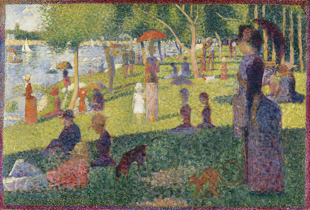 """Sunday Afternoon on the Island of La Grande Jatte"" by Georges Seurat.  Part of the Qwiz5 series by Qwiz Quizbowl Camp, written to help quiz bowl teams power more tossups!"