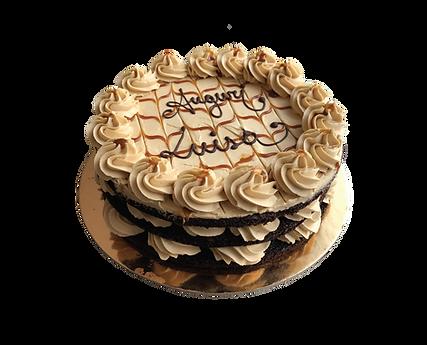 torta cioccolato e burro di arachidi con caramello, naked