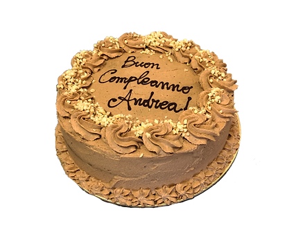 torta cioccolato e caramello con mandorle, old fashioned