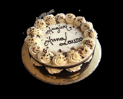 torta cioccolato e mascarpone con ripieno al pistacchio, naked