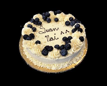 torta alla vaniglia con crema cheesecake e mirtilli, old fashioned