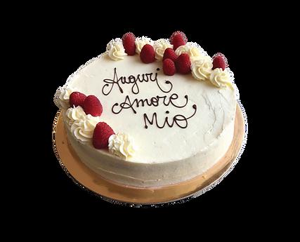 torta red velvet con lamponi, minimal