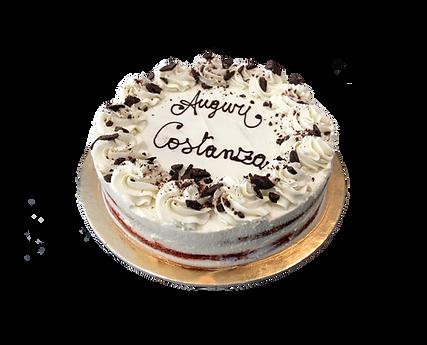 torta red velvet, bohemién