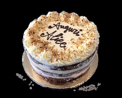 torta red velvet con granella di nocciola, bohemién