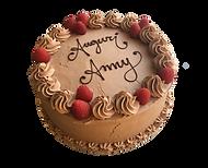 torta vaniglia e cioccolato con ripieno al bacio e lamponi, old fashionen