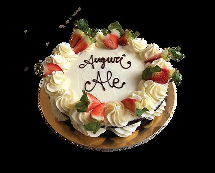 torta cioccolato e crema cheesecake con fragole, naked