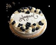 torta mirtillo e panna, minimal