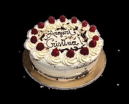 torta cioccolato e crema cheesecake con lamponi, bohenién