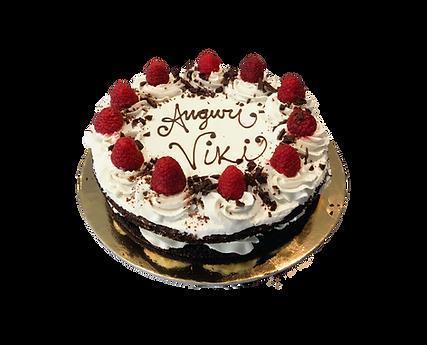 torta cioccolato, mascarpone e lamponi, naked