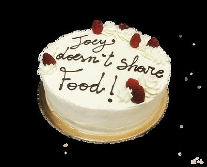 torta cioccolato, crema cheesecake e ripieno al lampone, minimal