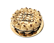 torta cioccolato e burro di arachidi con banana e caramello, naked