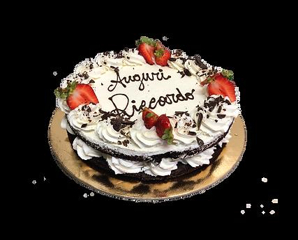 torta cioccolato, panna e fragole, naked